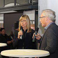 5 WHT17 Frau Albrecht Seifert (NDR) und Herr Seeler (Ohnsorg-Theater)